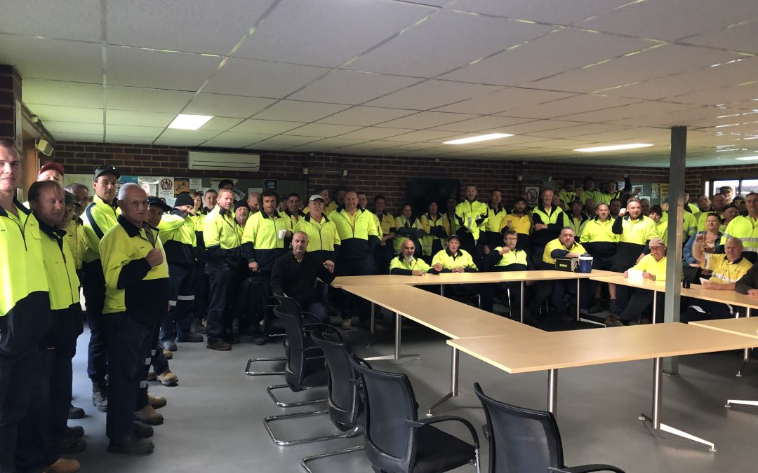 Banyule CC – ASU Members united in support of workmates