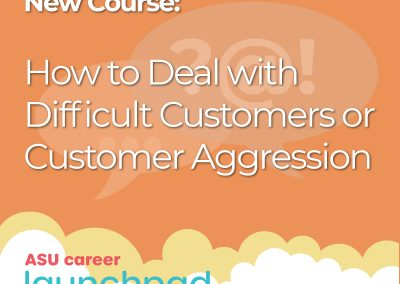 Do you deal with angry or difficult customers at work?