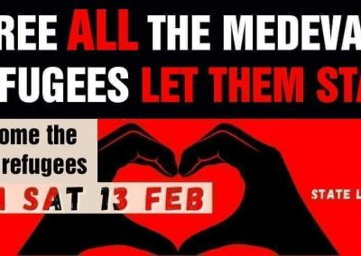 RALLY: Free ALL the Medevac Refugees, LET THEM STAY PERMANENTLY!